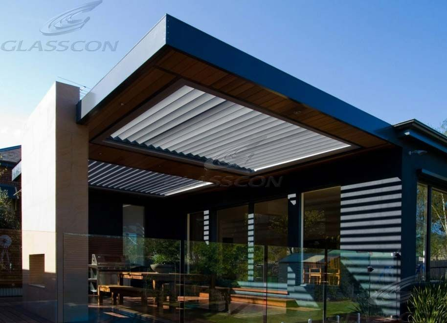 Glasscon   Retractable LOUVERED ROOF SYSTEM For Atriums, Patios, Pergolas ( Opening U0026 Waterproof