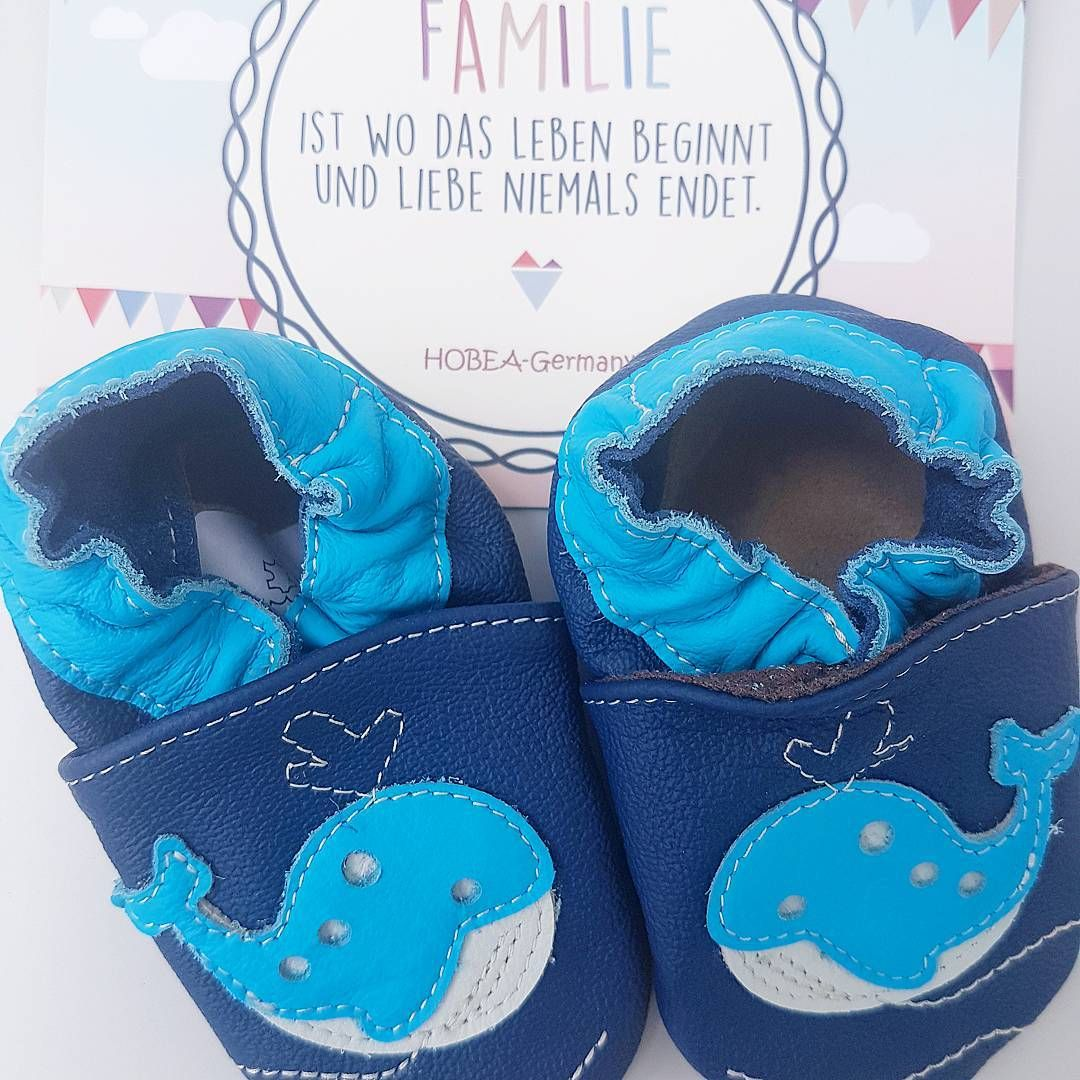 buy online 65629 c52b4 Babyschuhe blau mit Wal Motiv von baBice inkl. HOBEA-Germany ...