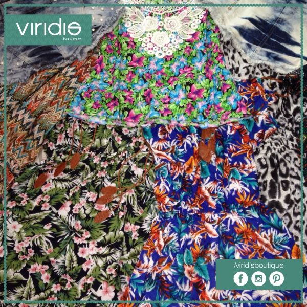 Bom dia, pessoal! Está chegando o grande dia. E para não deixá-los tão curiosos, olhem as lindas estampas para o Verão! Você não perderá o lançamento, né!?  #viridisboutique #savethedate #moda #modafeminina #fashion #verão