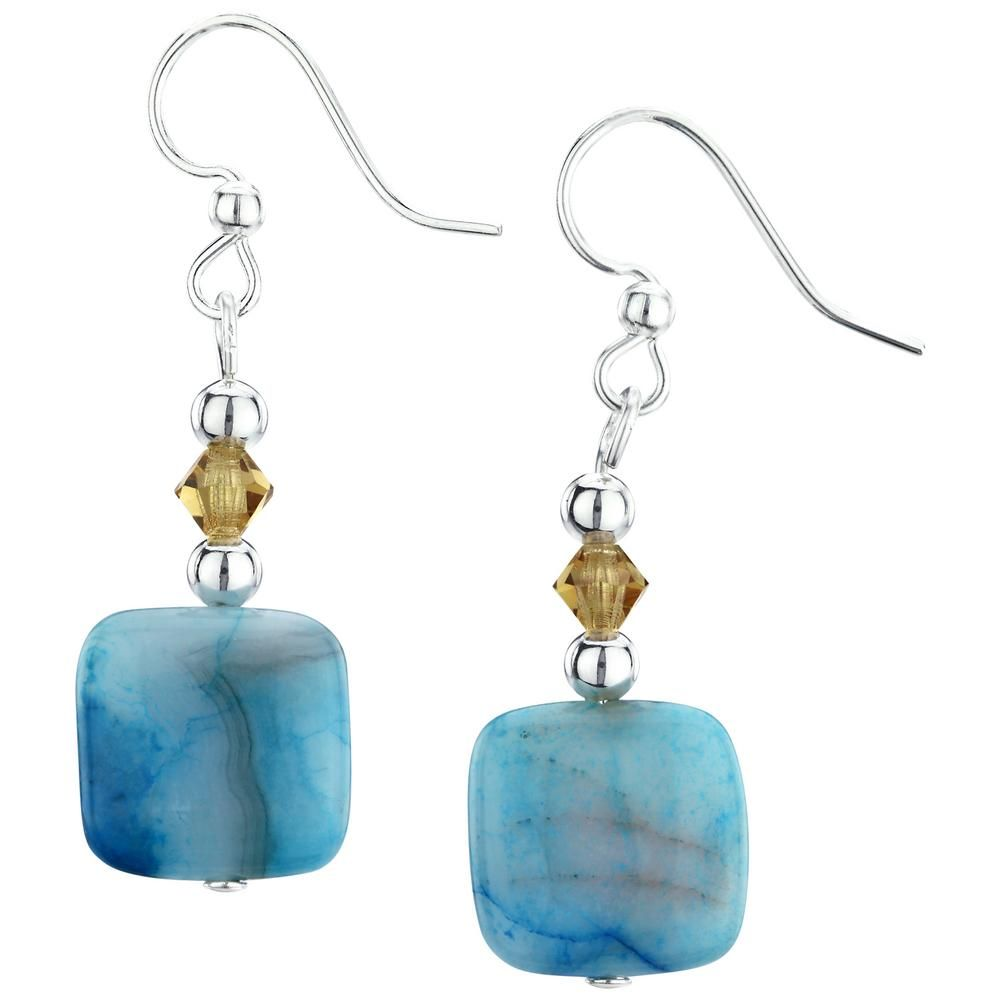 ad525a0a1d462 Blue Crazy Lace Agate Earrings | Animal Rescue-Greater Good | Crazy ...
