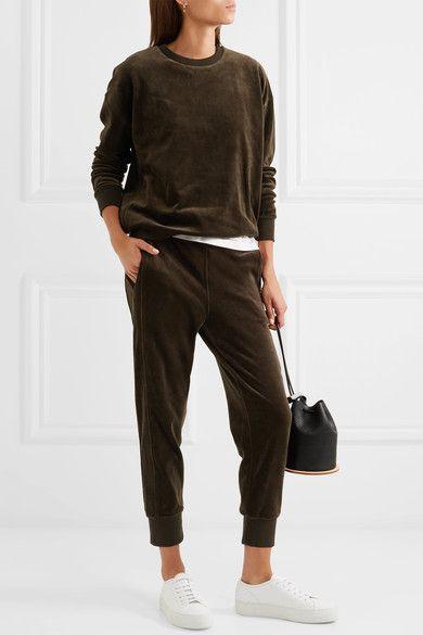 Dark-brown cotton-velvet Slips on 100% cotton Machine wash Designer color: Balsamic