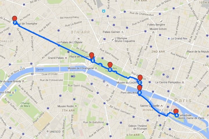 free paris walking tours maps