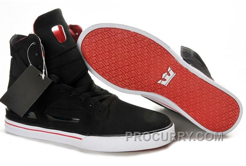 b6e40ae65818 Supra Skytop II Mens Black White Red in 2019