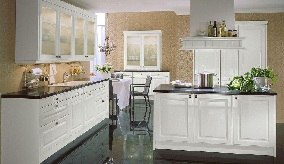 Einbauküche Citrin Weiß Hochglanz Decor~Cottage on a Hill - Küchen Weiß Hochglanz