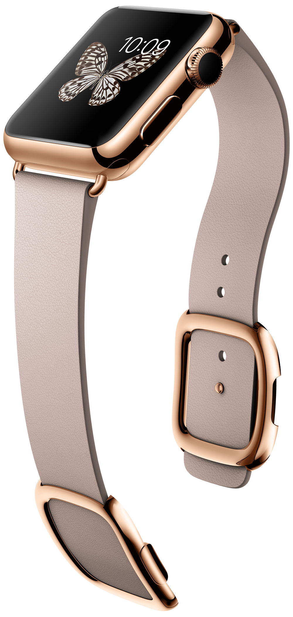 Gold Apple Watch Edition in 38-MM18k rose gold and rose