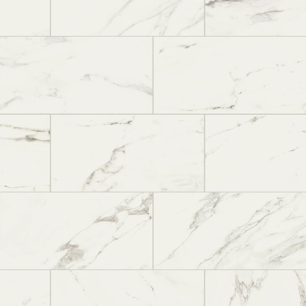 Marazzi developed by nature calacatta 12 in x 24 in glazed marazzi developed by nature calacatta 12 in x 24 in glazed porcelain floor and dailygadgetfo Image collections