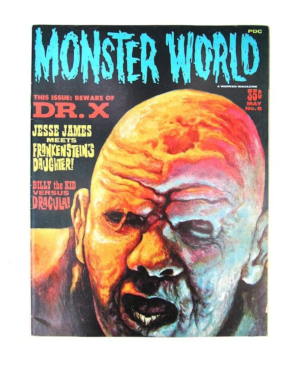 Monster World Magazine 1966 Dr. X Dracula 8 By