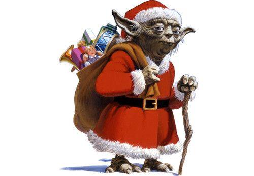 star wars, christmas, and santa image