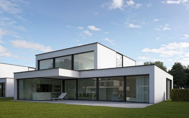 Fancisca hautekeete drongen hannelies houses haus for Moderne bungalow architectuur