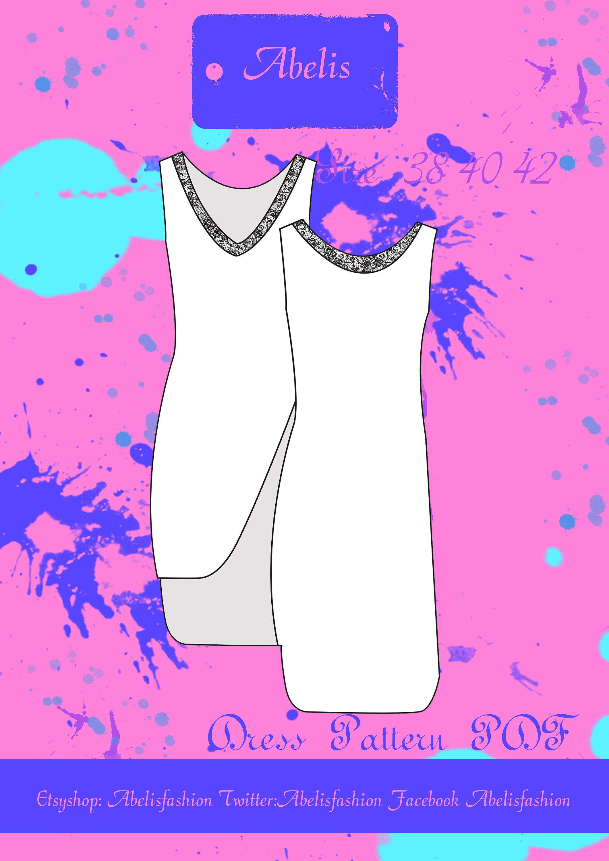 Pattern sleeveless t-shirt woman, sweater, t-shirt, shirt-dress ...