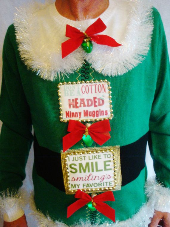 4146d1a084 ELF Ugly Christmas Sweater. You know him