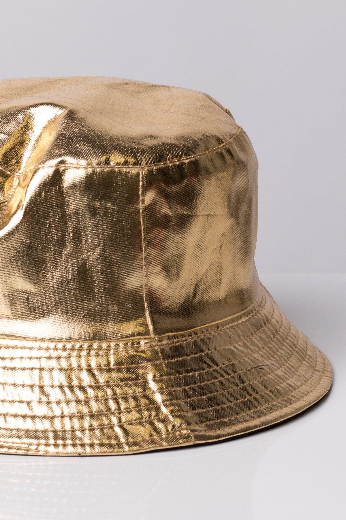 e5e90ad7e01 We ve got Gold Metallic bucket hats!