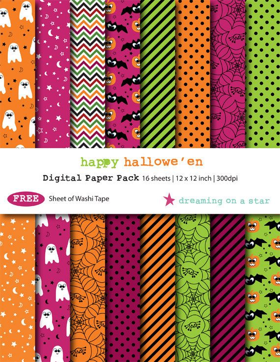 Sale Halloween Digital Scrapbook Paper Pack By Dreamingonastar 2 75 Digital Scrapbook Paper Halloween Digital Scrapbook Paper