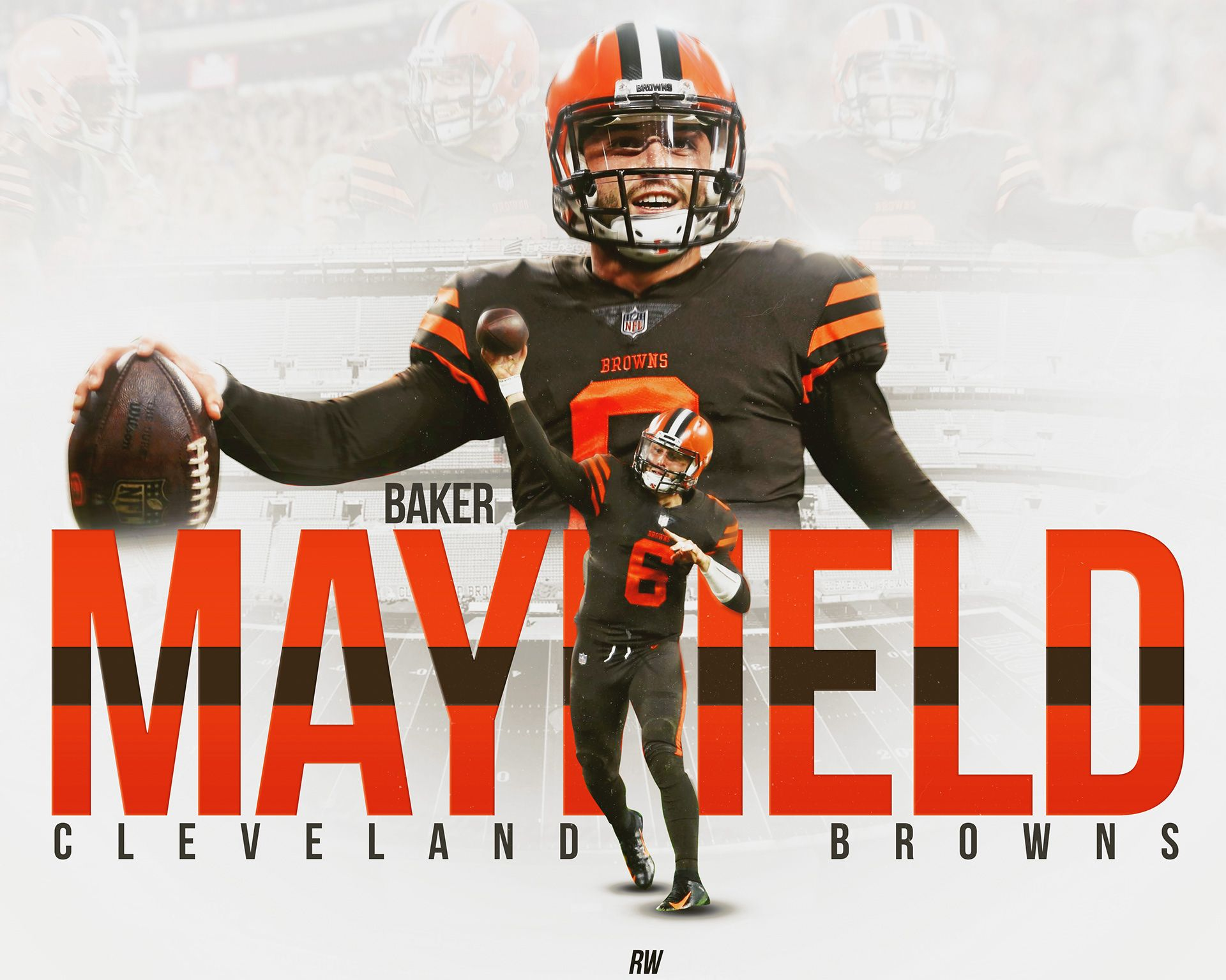 6f4ea933d Baker Mayfield Cleveland Browns Graphic on Behance