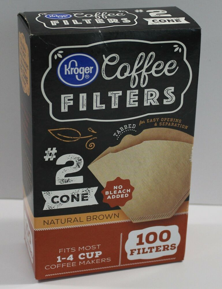 Natural Brown Coffee Filters 2 Cone 100 Pack Coffee