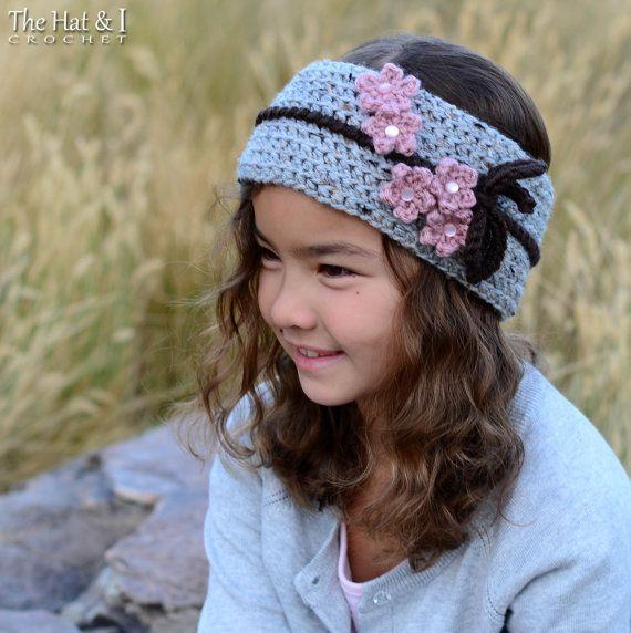 CROCHET PATTERN - Cherry Blossom Headwrap - crochet headband pattern ...