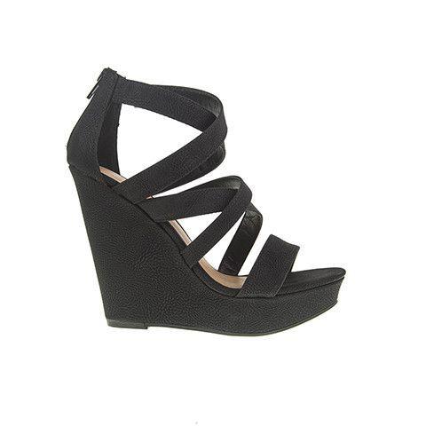 fae4ab1e7b Monami Wedge Sandal - Black | Products | Black wedge sandals, Wedge ...