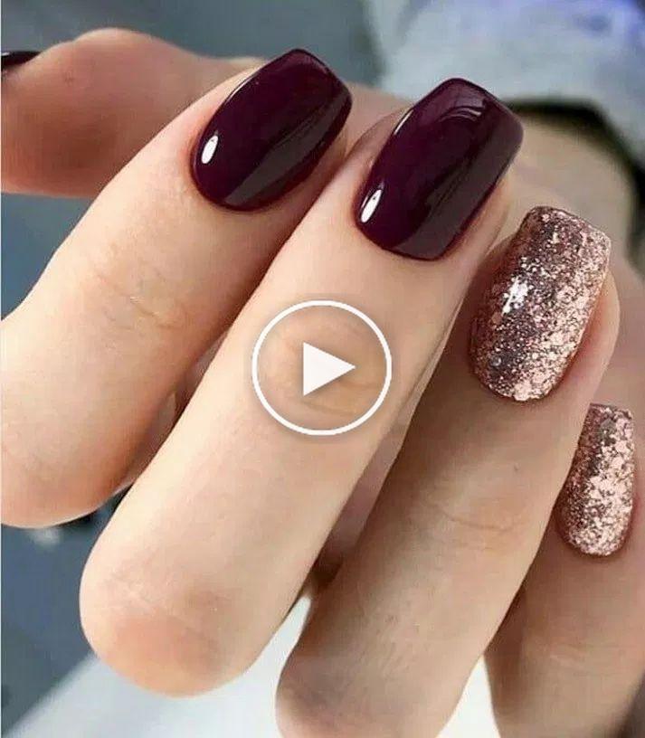 56 Designs ongles Glitter Gel pour les ongles courts pour le printemps 2019 #naildesign #nail
