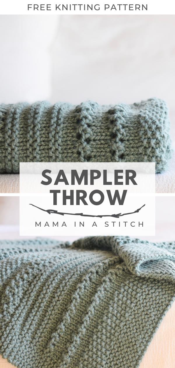 Photo of Winter Cuddler Throw Blanket Knitting Pattern