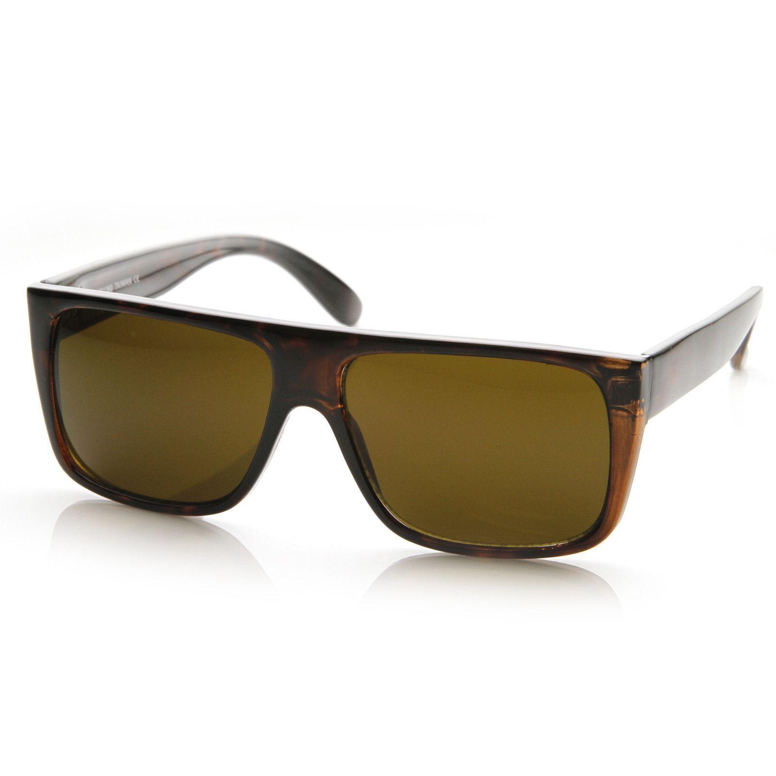 Mens Retro Super Flat Top Aviator Square Sunglasses 8685