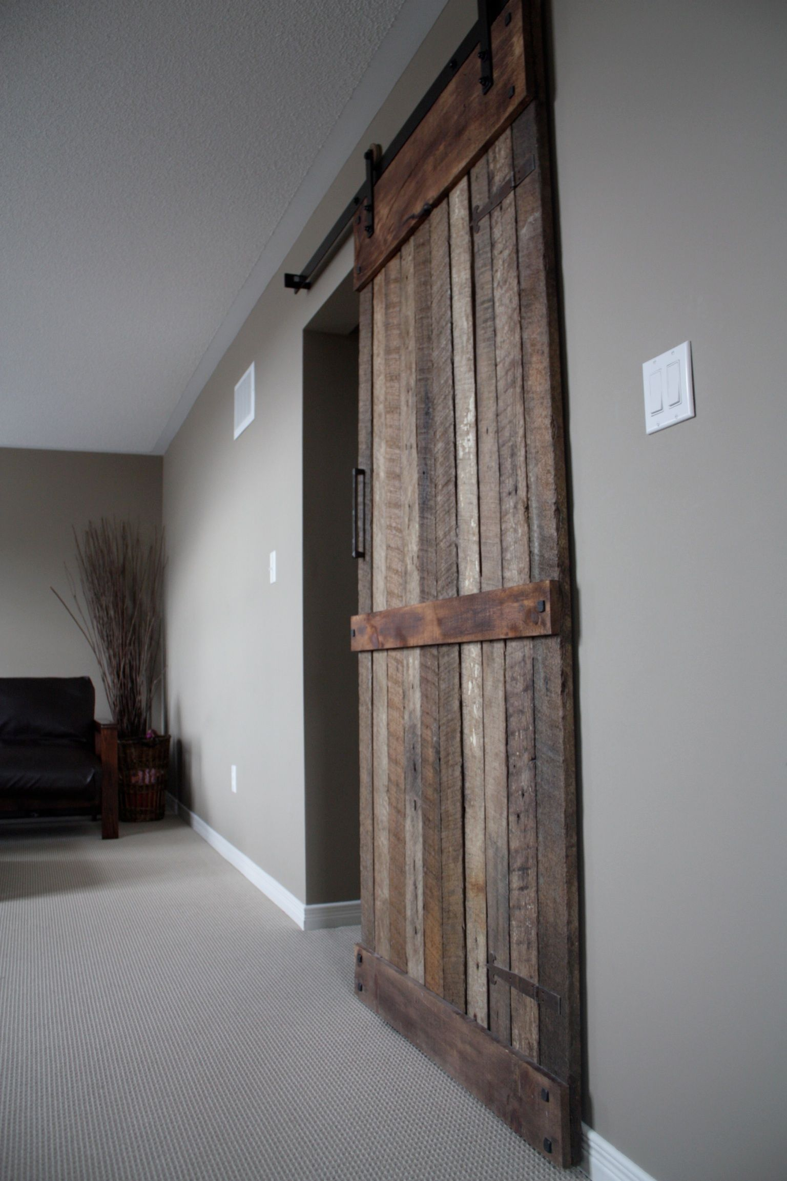 New Rustic style sliding barn wood door. www.loftdoors.com | Home ...