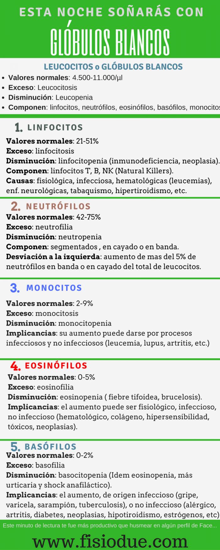 LEUCOCITOS. PARÁMETROS Y ALTERACIONES | anatomía | Pinterest ...