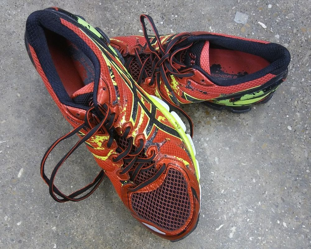 best service 86bfe 83c43 Men s ASICS GEL-Sendai 2 Running Shoe Size 11 RED BLACK YELLOW WHITE  ASICS   AthleticSneakers