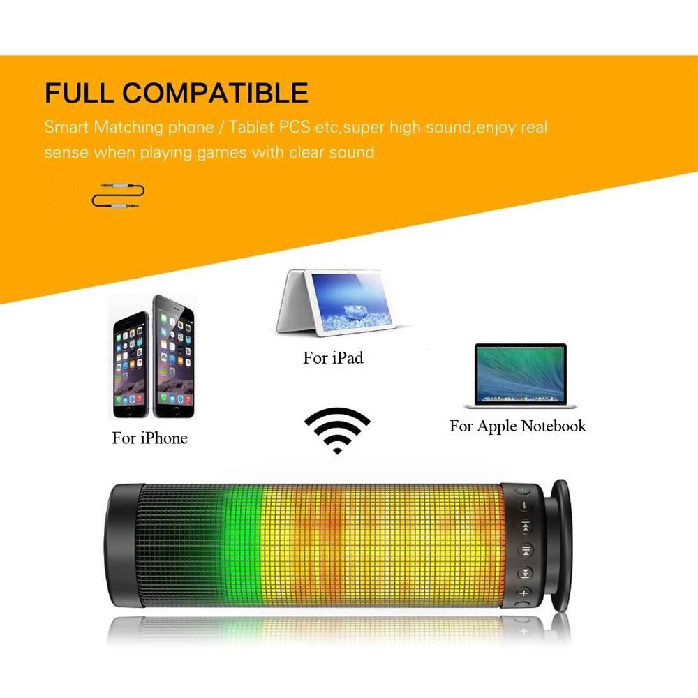 Mini Portable Wireless BT 4.0 Pulse LED Light Speaker