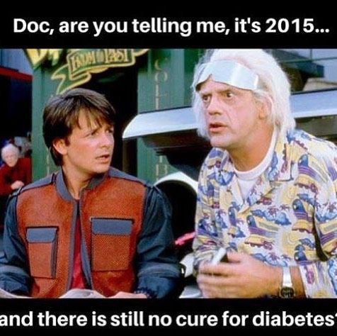 Great Scott at this point I'm thinking there's a higher chance of flying cars than a cure for D. This movie was made the year I was diagnosed and I was told a cure was in the near future.... Hmmm still waiting....  #t1d #type1diabetes #strong #healthy #fit #diabetic #diabeticlife #hope #nohope #curediabetes #back2thefuture #30years by t1d_be_active
