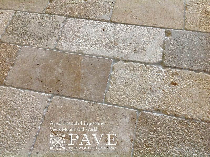 Pave Tile Wood Stone Inc Gt Aged French Limestone And