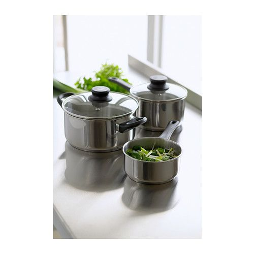Annons 5 Piece Cookware Set Glass Stainless Steel With Images