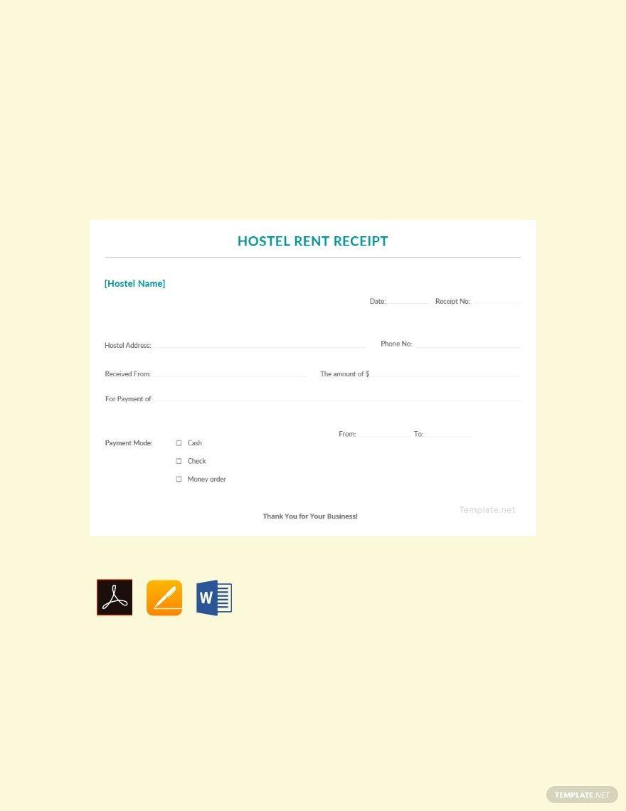Sample Hostel Rent Receipt Template Free Pdf Google Docs Google Sheets Excel Word Template Net Receipt Template Word Doc Templates