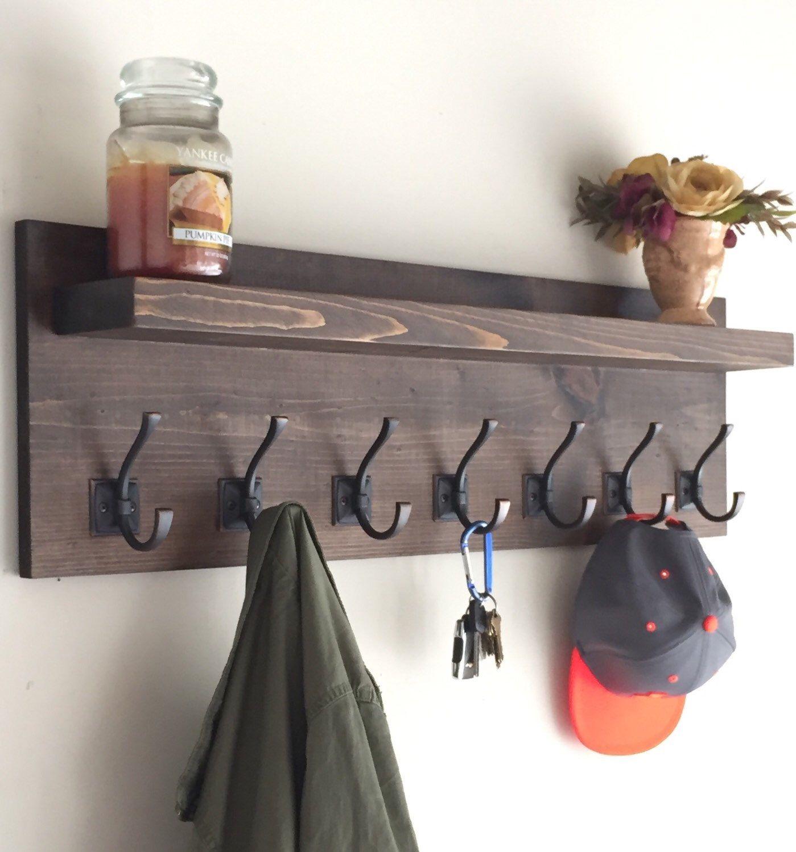 Free Simple Woodworking Plans With Images Rustic Coat Rack Coat Rack Shelf Diy Furniture