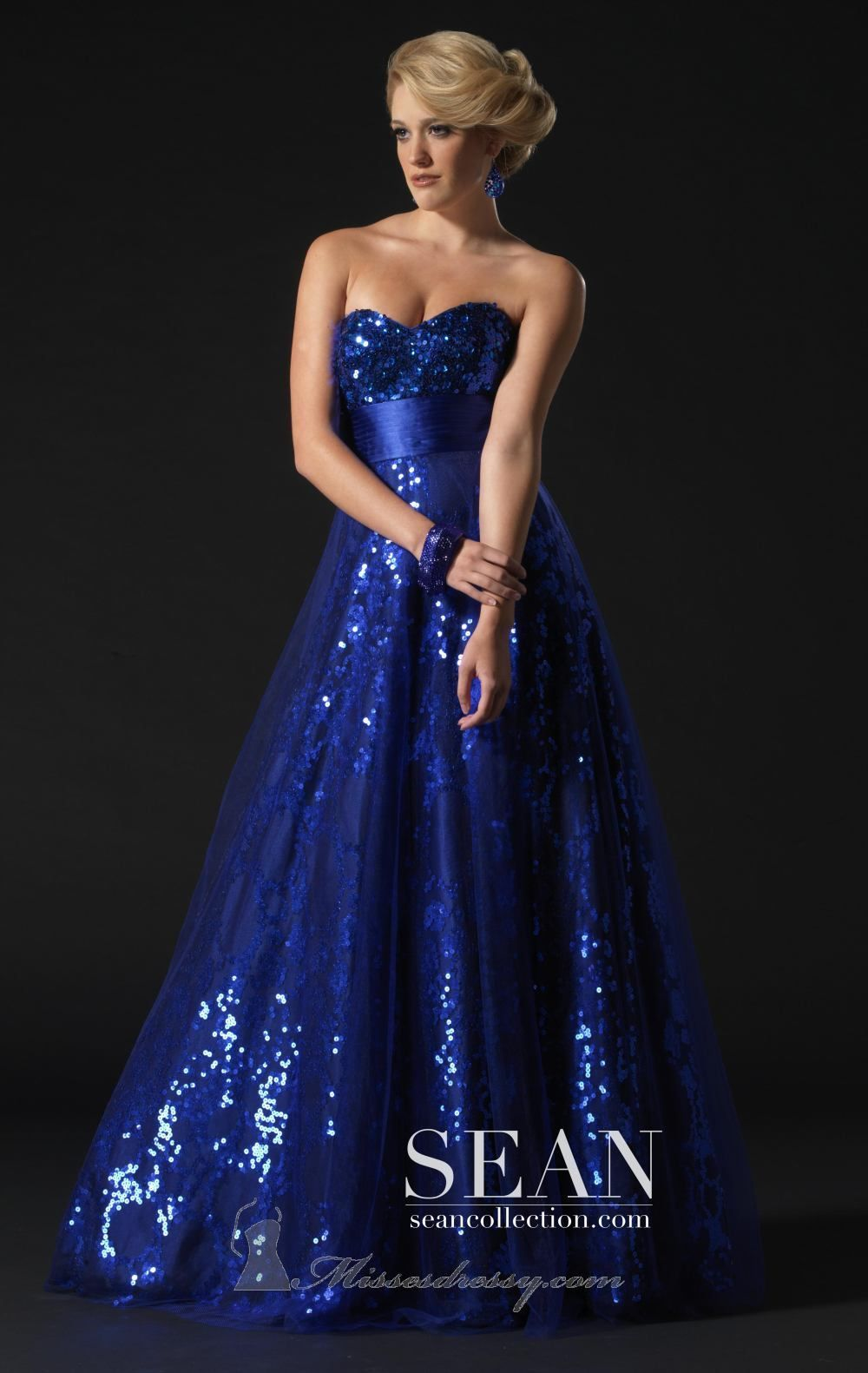 Royal blue sparkly gown i adore this dress dress