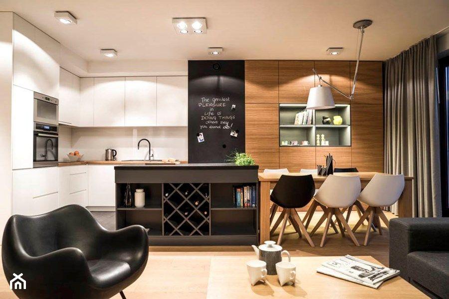 Salon Na Wymiar Duża Otwarta Kuchnia W Kształcie Litery