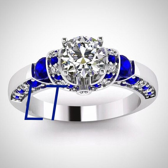 inspired by the iconic droid himself this unique engagement ring comes to you with beautiful white swarovski diamonds and sapphire swarovski - R2d2 Wedding Ring