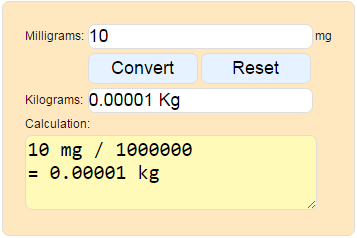 Milligrams to kilograms youtube.
