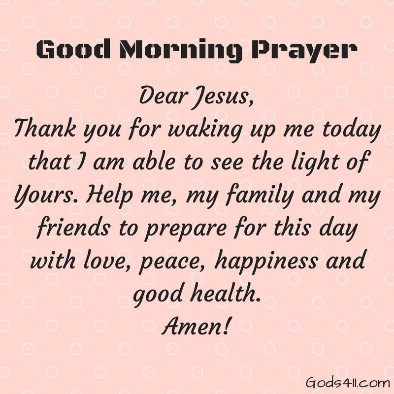 Good Morning Family Prayer : Good morning prayer thank you for waking up me today