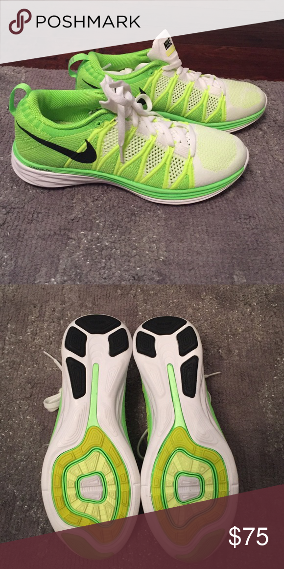 FINAL PRICE Nike Neon Knit Lunar2 Sneakers Brand new and never worn.  No box. Nike Shoes Athletic Shoes