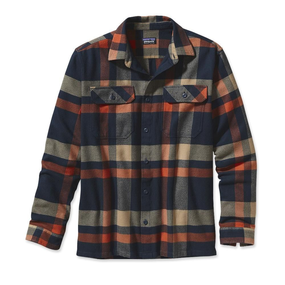 Orange flannel jacket  Menus LongSleeved Fjord Flannel Shirt  Mode  Pinterest  Shirts