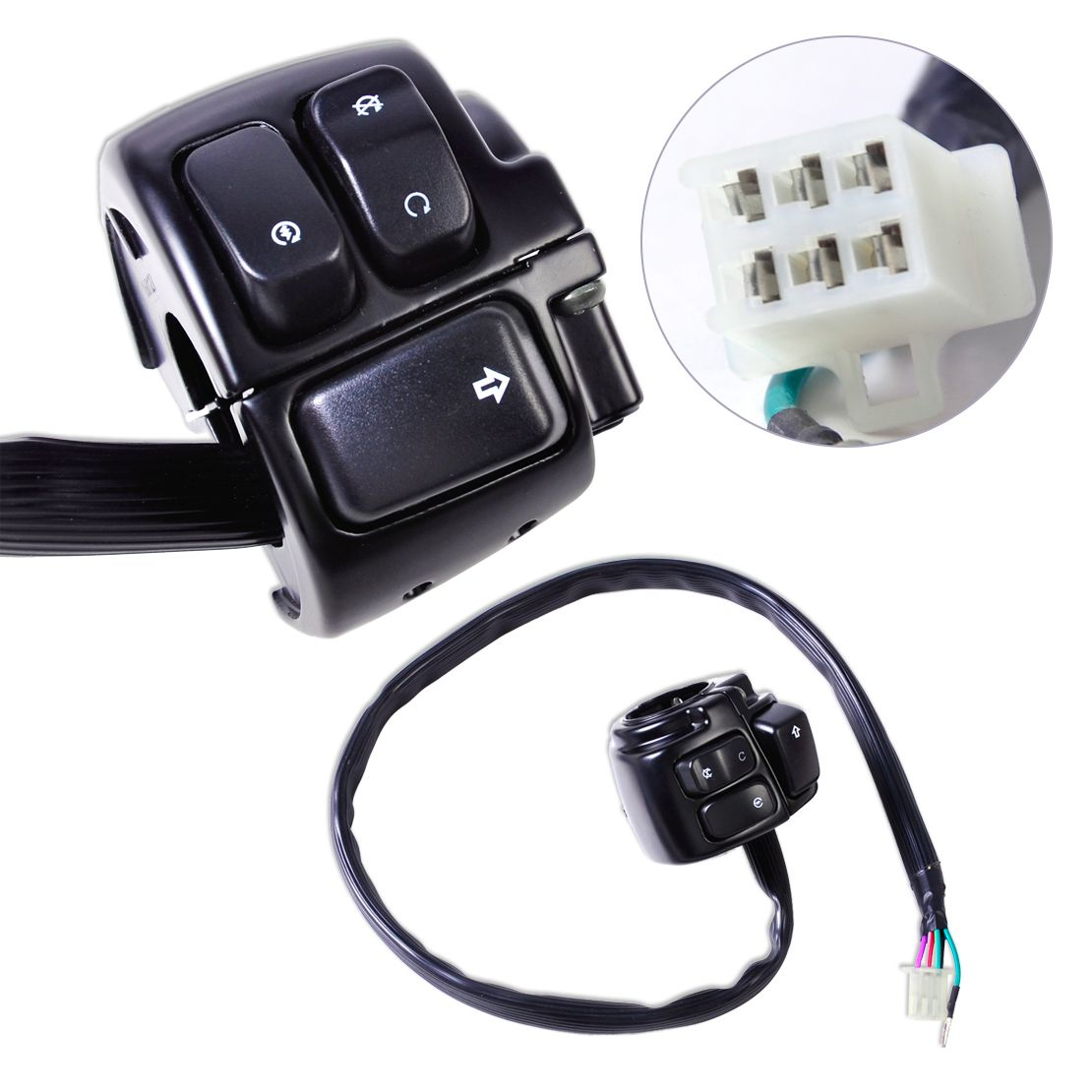 1pc new motorcycle 1 handlebar ignition kill switch wiring harness kill switch wiring on harley [ 1110 x 1110 Pixel ]