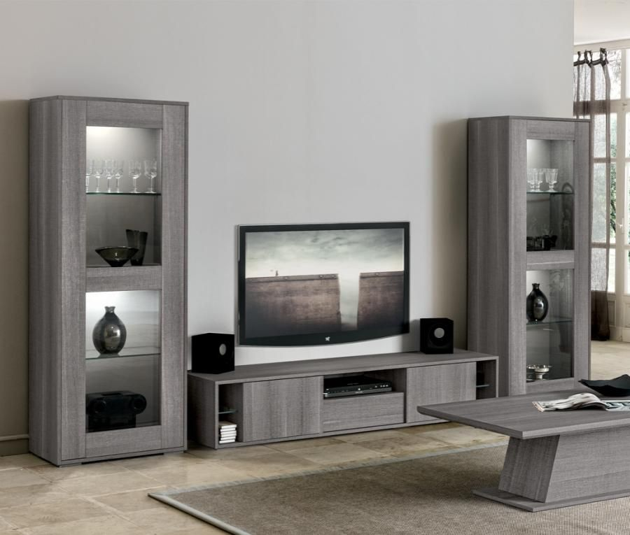 Gray Wall Paint Plus Color Gray Tv Stand Or Tv Cabinet Also Bench Drawer And Bench Tv A Good Combination Grey Tv Stand Living Room Tv Modern Tv Units