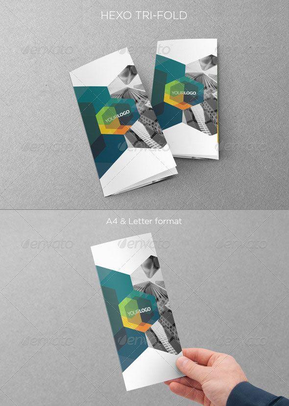 Three Fold Brochure Template Vector Design  Web Design