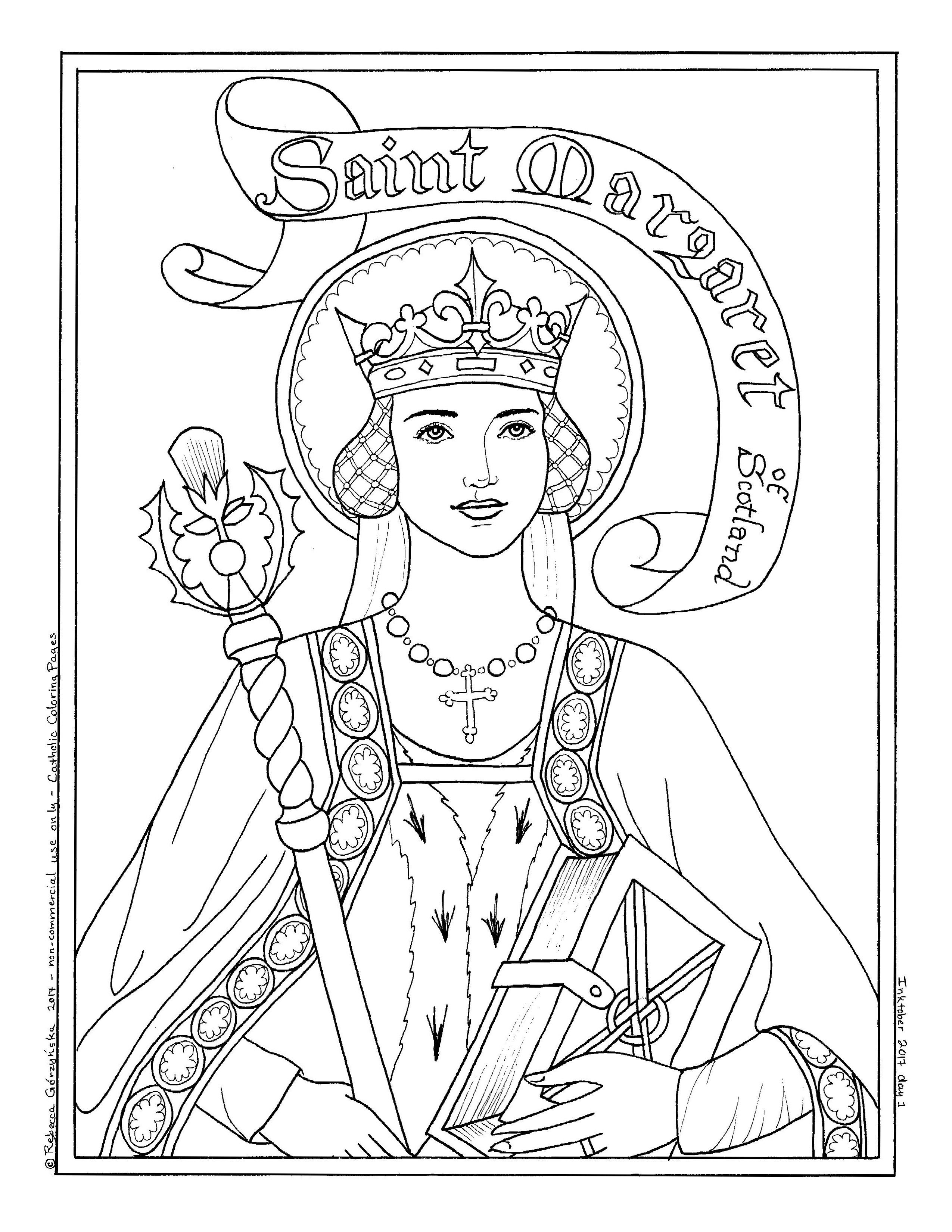 Image Result For St Margaret Of Scotland Coloring Page