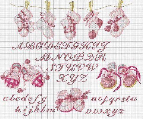 Pin di antonella petozzi su ricamo cross stitch baby for Lettere alfabeto punto croce per bambini