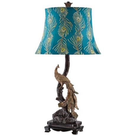 Superior Exotic Plumage Peacock Table Lamp   Have To Have!