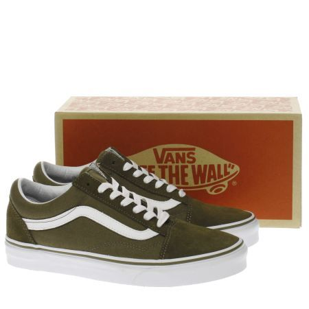 womens vans khaki old skool trainers  f05a1d09ea