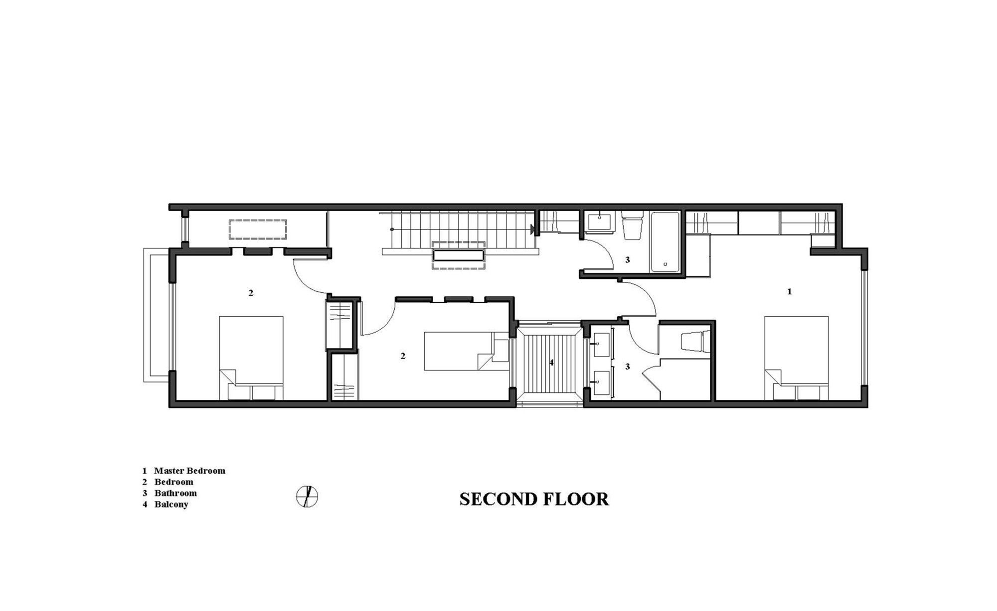 Gallery Of The Linear House Green Dot Architects 11 Architect House Floor Plans Narrow House Designs