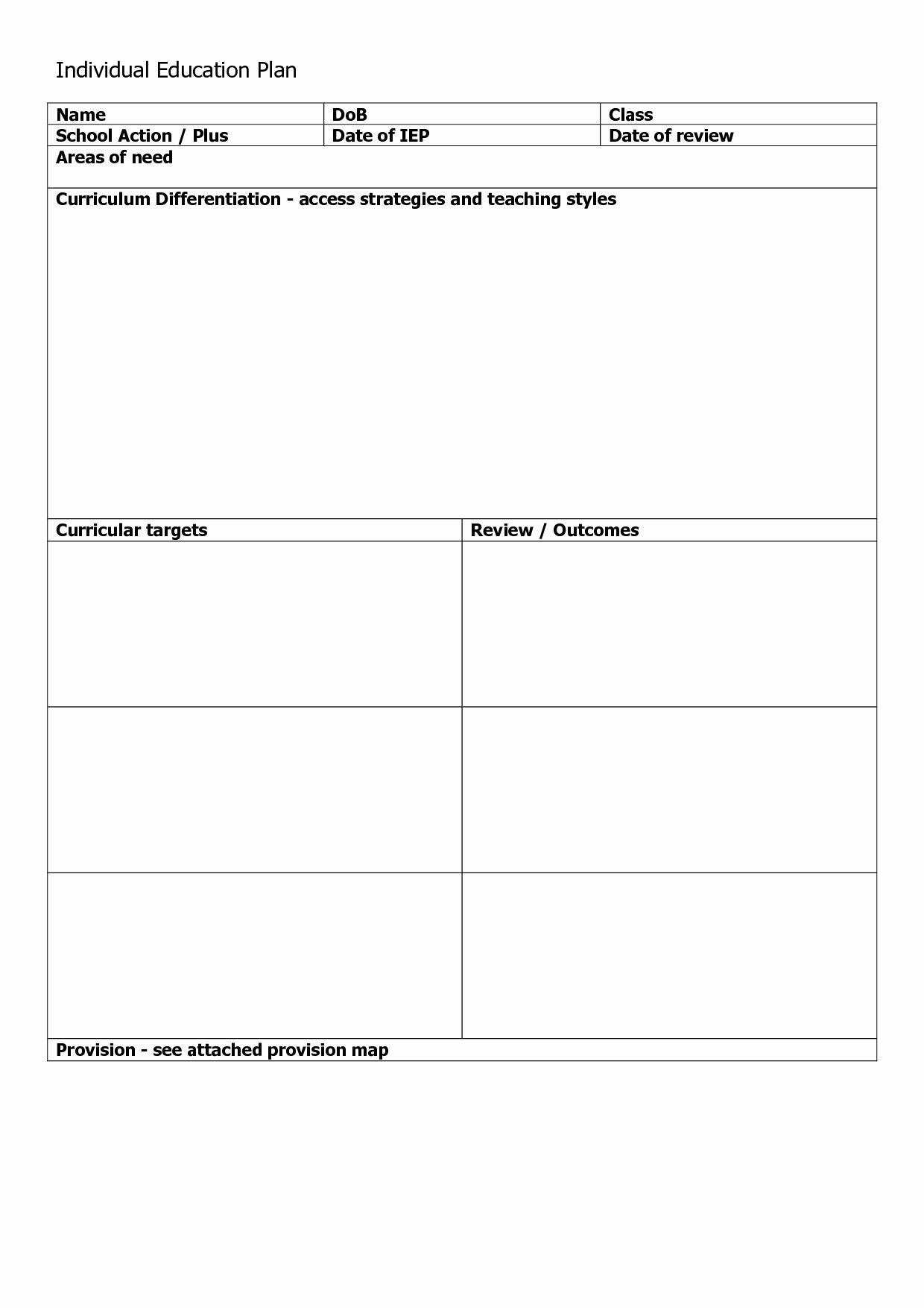 Personal Learning Plan Example Luxury Individual Learning Plan