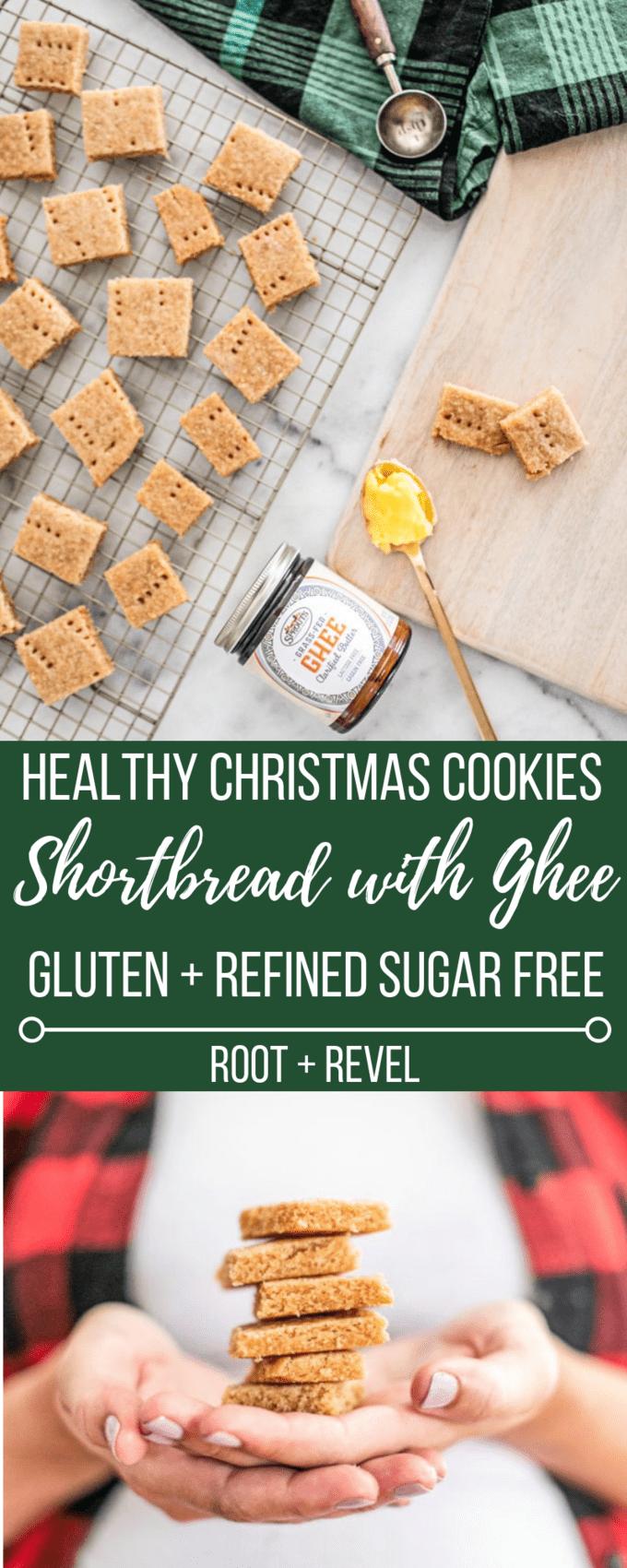 Healthy Christmas Cookies Shortbread Recipe With Ghee Gluten Free Refined Sugar Free